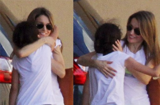 El efusivo abrazo entre Victoria Federica y tía Letizia