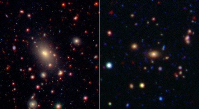 Las grandes galaxias pierden apetito con los años