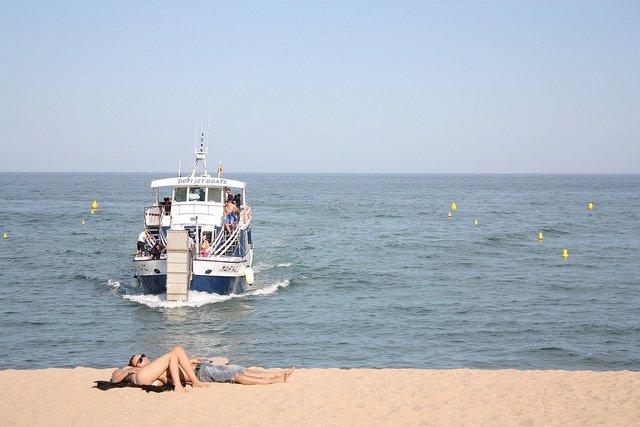 Tomar El Sol, Verano, Playa, Barco