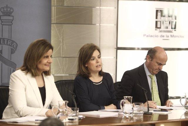 Último Consejo de Ministros con Fátima Báñez, Soraya y de Guindos