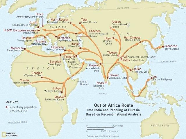 Emigración De Las Poblaciones Humanas Desde África