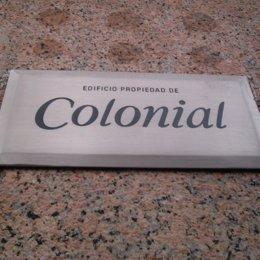 inmobiliaria colonial logo letrero placa