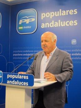 El coordinador de Sanidad del PP andaluz, Jesús Aguirre