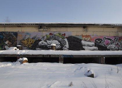 Un mural del grafitero Banksy en Los Ángeles saldrá a subasta
