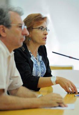 Raúl Comba y Ana Gámez en rueda de prensa