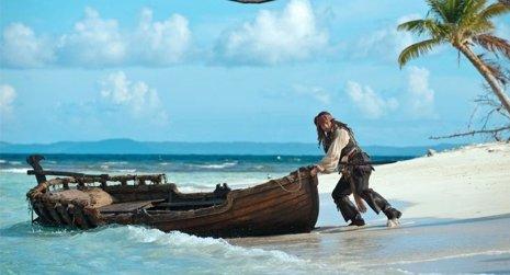 Johnny Depp como Jack Sparrow en Piratas del Caribe