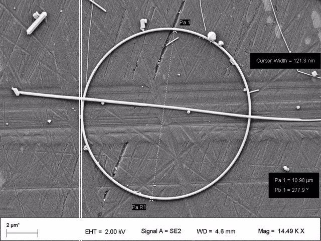 Investigadores asturianos sintetizan por primera vez nanoanillos de plata para mejorar la transparencia y conductividad