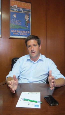 El secretario general del PP de Huelva, Guillermo García Longoria