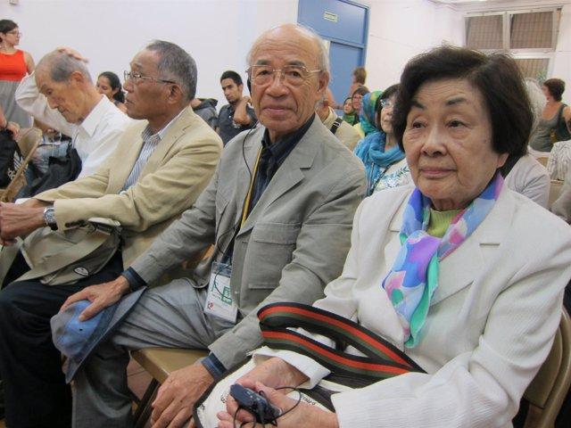 Supervivientes de la bomba de Hiroshima y Nagasaki en Barcelona