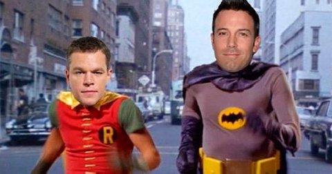 Matt Damon y Ben Affleck como Batman y Robin