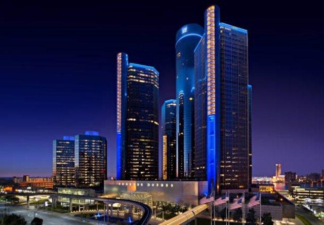 Imagen de un hotel de Marriott en Detroit.