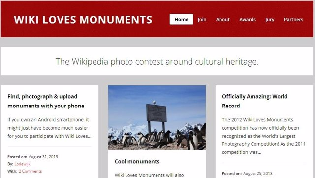 Página Wiki Loves Monuments