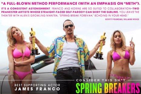 Iniciada la campaña para que James Franco consiga el Oscar