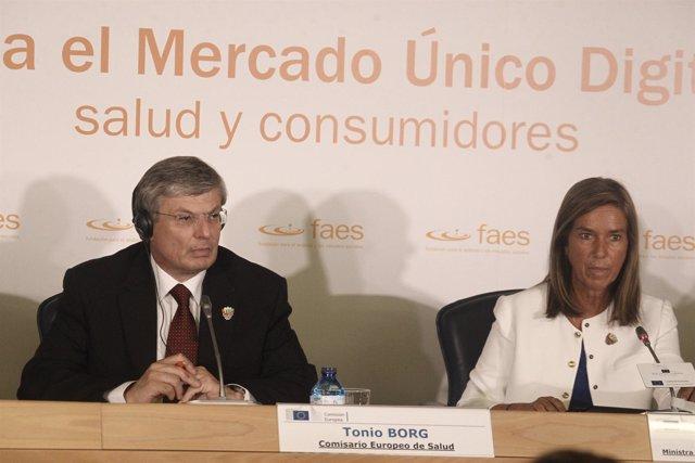 Tonio Borg, comisario europeo de salud, y Ana Mato, ministra de Sanidad