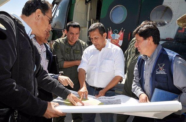 Ollanta Humala entrega ayudas por heladas