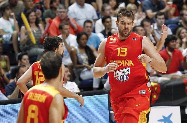 Marc Gasol con la selección española