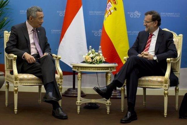 Rajoy y el primer ministro de Sinapur