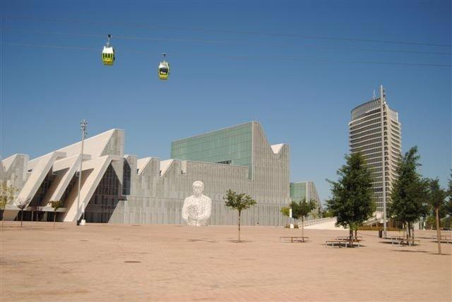 Palacio de Congresos y Torre del Agua en la capital aragonesa