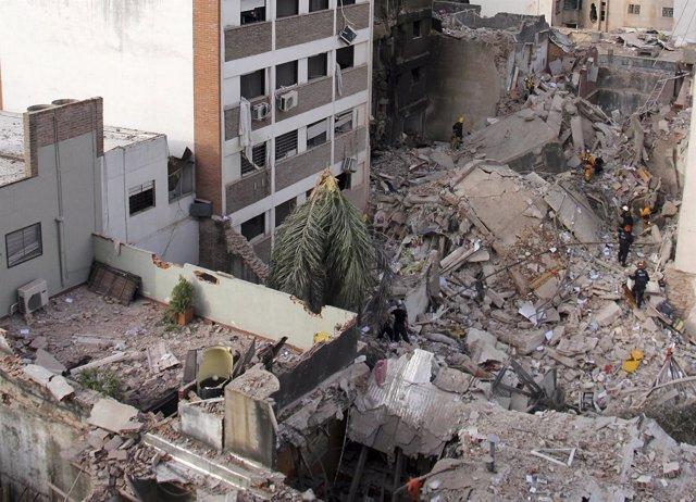 Explosión en Rosario, Argentina