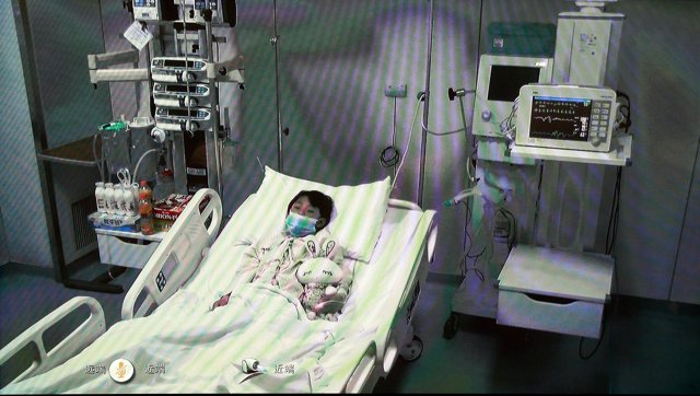 Niños enfermos, hospital, virus H7N9