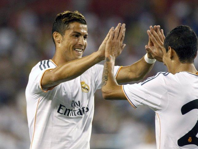 Cristiano Ronaldo y Di María en la gira americana del Real Madrid