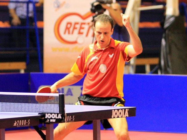 El jugador español de tenis de mesa Carlos Machado