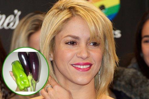 Shakira recolecta sus primeras hortalizas de su propio huerto