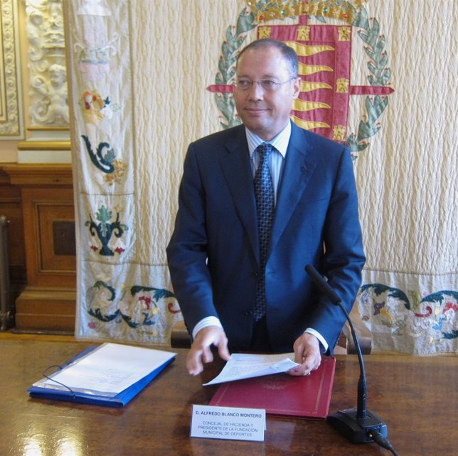El concejal de Hacienda del Ayuntamiento de Valladolid, Alfredo Blanco