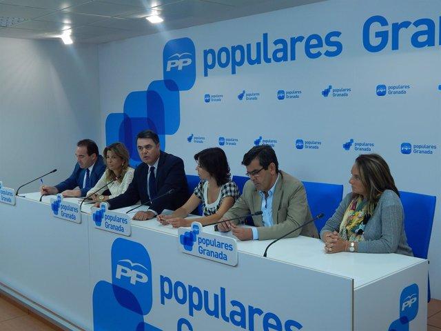 Rueda del portavoz del PP-A en el Parlamento andaluz, Carlos Rojas