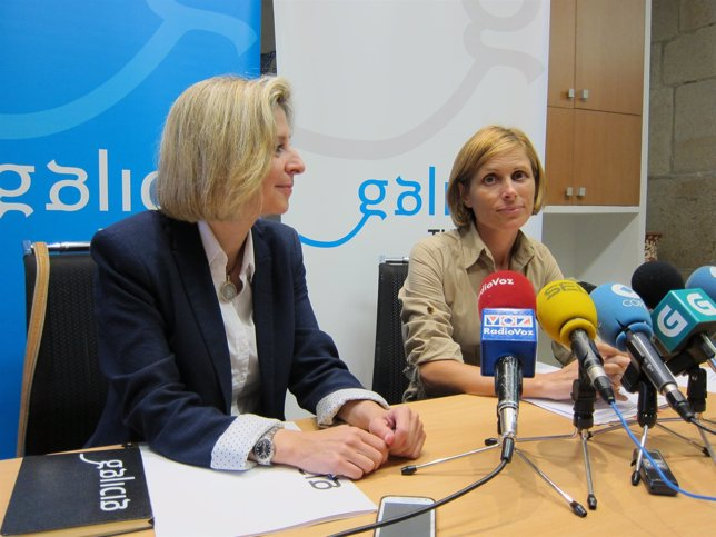 La directora de Turismo de Galicia, Nava Castro, en la rueda de prensa