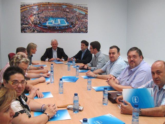 Suárez con representantes de Juntas de Distrito