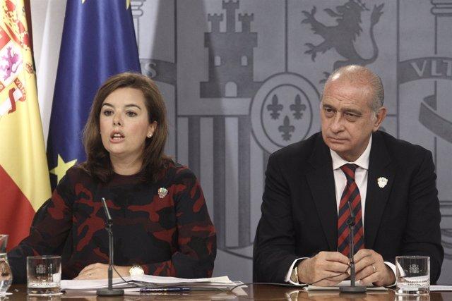 Soraya Sáez de Santamaría y Jorge Fernández Díaz