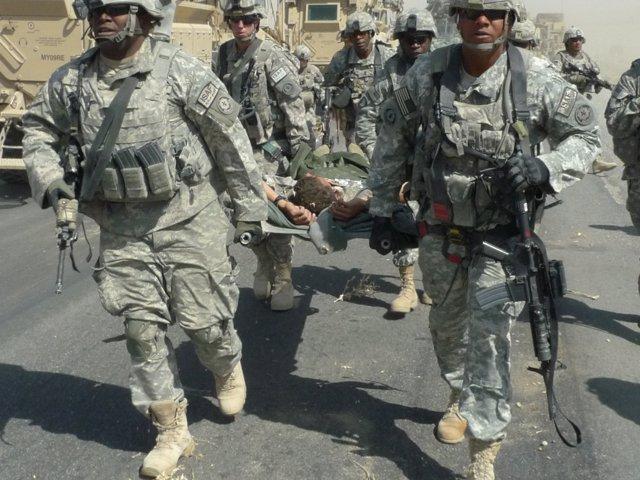 Soldado estadounidense herido en  Afganistán