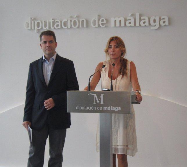 Los diputados provinciales Carlos Conde y Ana Mata
