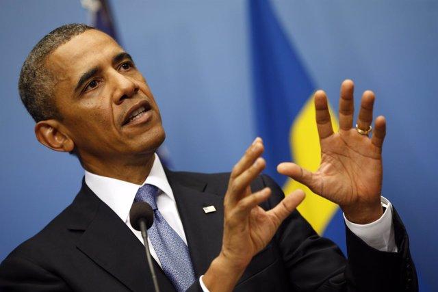El presidente de Estados Unidos, Barack Obama, en una conferencia de prensa con