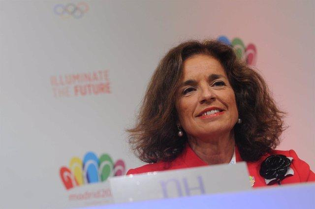 Ana Botella en la rueda de prensa de la candidatura olímpica