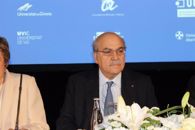 El conseller de Economía A.Mas-Colell