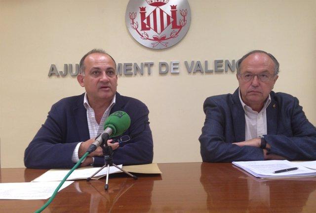 Joan Calabuig y Fèlix Estrela, en rueda de prensa.