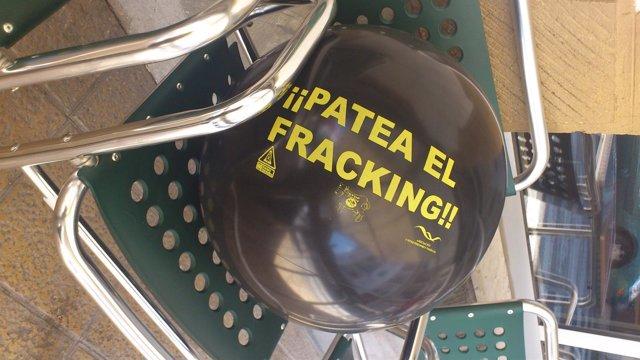 Balón contra el fracking