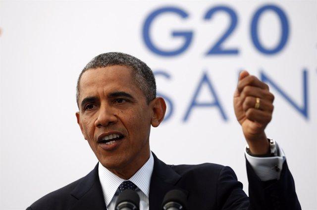El presidente de EEUU Barak Obama en el G-20 de San Petersburgo