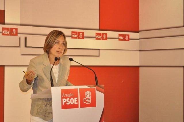 La secretaria de Organización del PSOE-Aragón, Eva Sáenz.