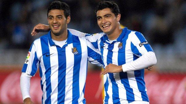 Carlos Vela y Chory Castro