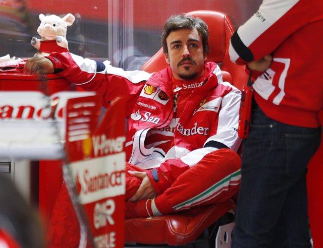 El piloto español de Ferrari Fernando Alonso