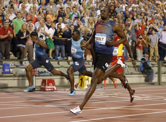 Usain Bolt se impone en Bruselas en la Diamond League