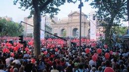 Puerta de Alcalá para animar a Madrid 2020