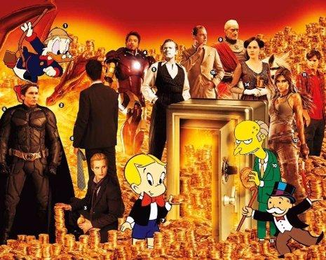 Los personajes más ricos de ficción según Forbes