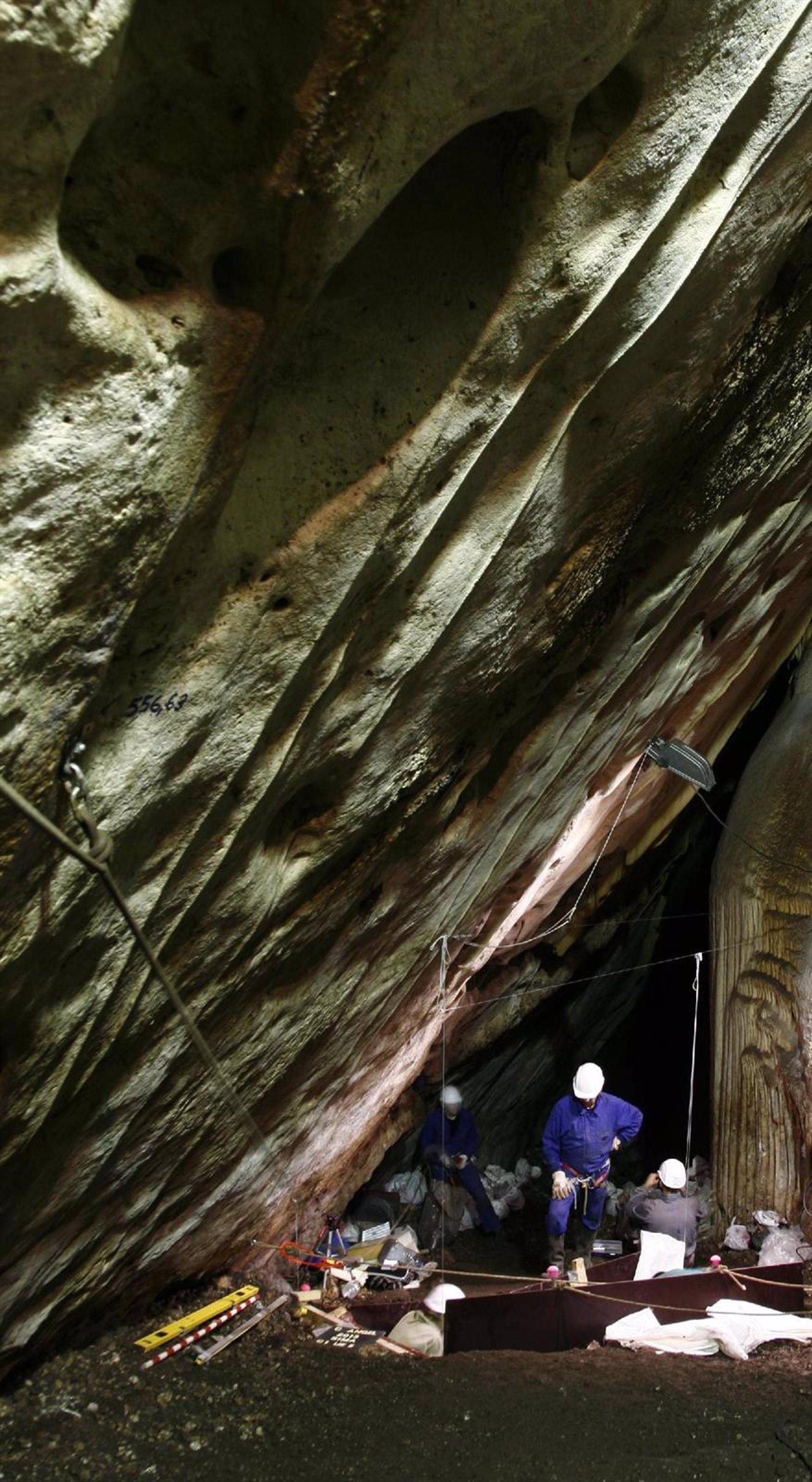 Encuentran unos 500 huesos prehistóricos en las excavaciones de la Cueva del Ángel en Lucena (Córdoba)