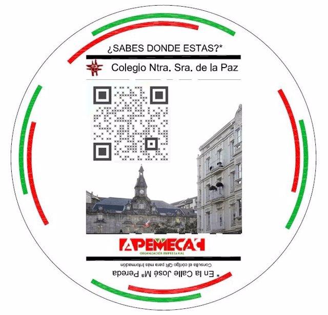 Pegatinas con códigos QR del proyecto 'Torrelavega es'