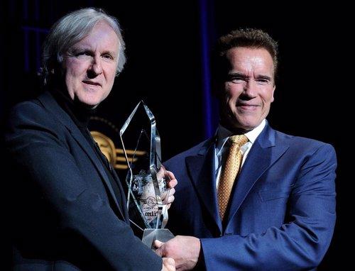 Arnold Schwarzenegger y James Cameron