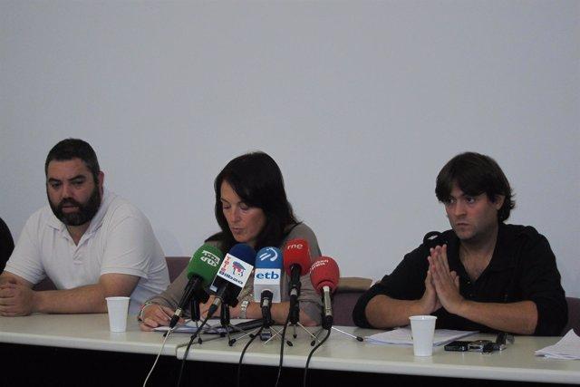 Representantes del comité de ambulancias Bizkaia